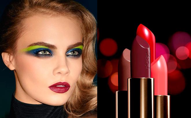 Cara Delevingne para Yves Saint Laurent y Rouge Pur Couture